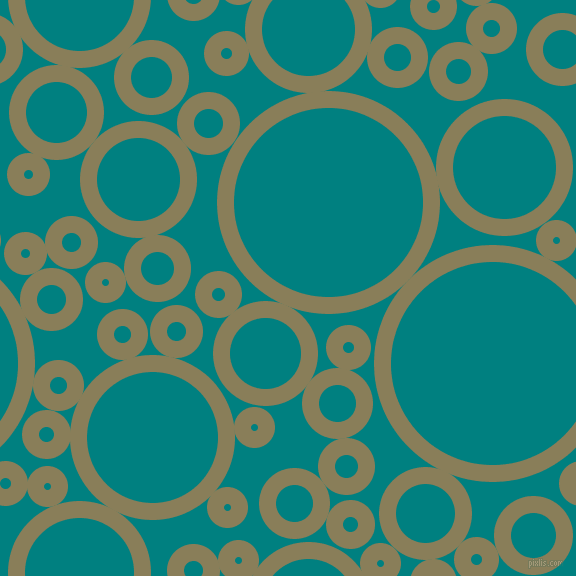 bubbles, circles, sponge, big, medium, small, 17 pixel line width, Clay Creek and Teal circles bubbles sponge soap seamless tileable