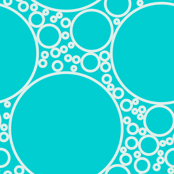 bubbles, circles, sponge, big, medium, small, 9 pixel line width, Clear Day and Dark Turquoise circles bubbles sponge soap seamless tileable