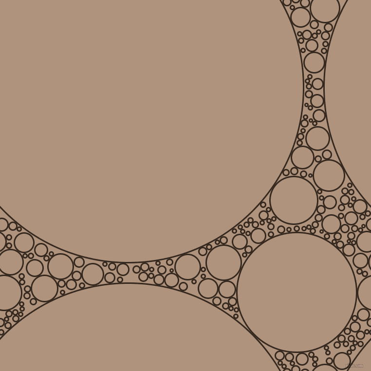 bubbles, circles, sponge, big, medium, small, 3 pixel line width, Cocoa Brown and Sandrift circles bubbles sponge soap seamless tileable