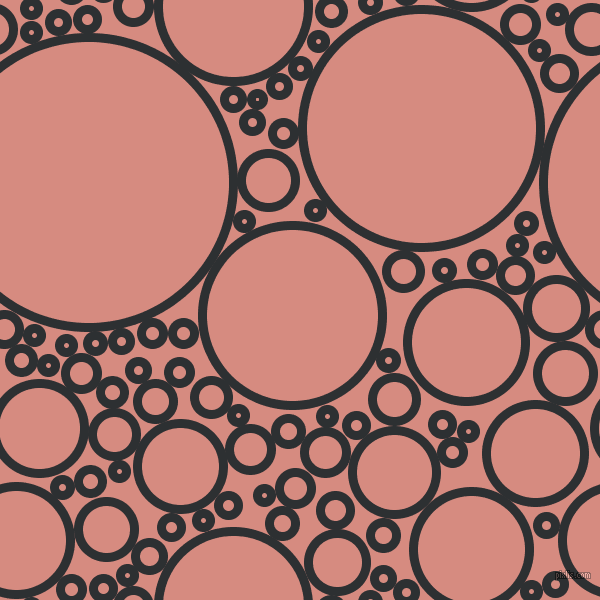 bubbles, circles, sponge, big, medium, small, 9 pixel line width, Cod Grey and My Pink circles bubbles sponge soap seamless tileable