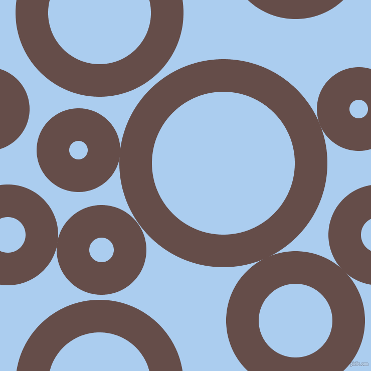 bubbles, circles, sponge, big, medium, small, 65 pixel line width, Congo Brown and Pale Cornflower Blue circles bubbles sponge soap seamless tileable
