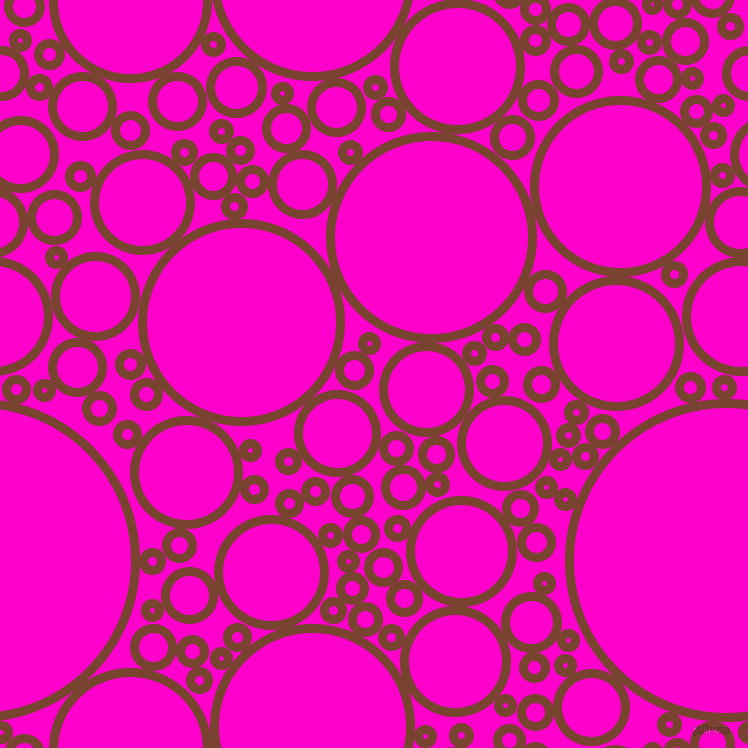 bubbles, circles, sponge, big, medium, small, 9 pixel line width, Cumin and Hot Magenta circles bubbles sponge soap seamless tileable