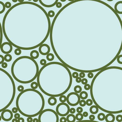 bubbles, circles, sponge, big, medium, small, 9 pixel line width, Dark Olive Green and Oyster Bay circles bubbles sponge soap seamless tileable