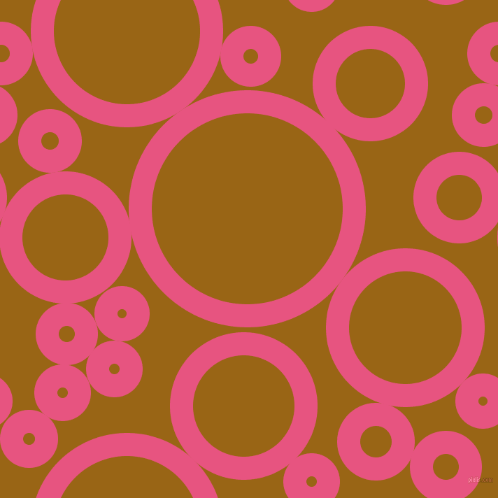 bubbles, circles, sponge, big, medium, small, 33 pixel line width, Dark Pink and Golden Brown circles bubbles sponge soap seamless tileable