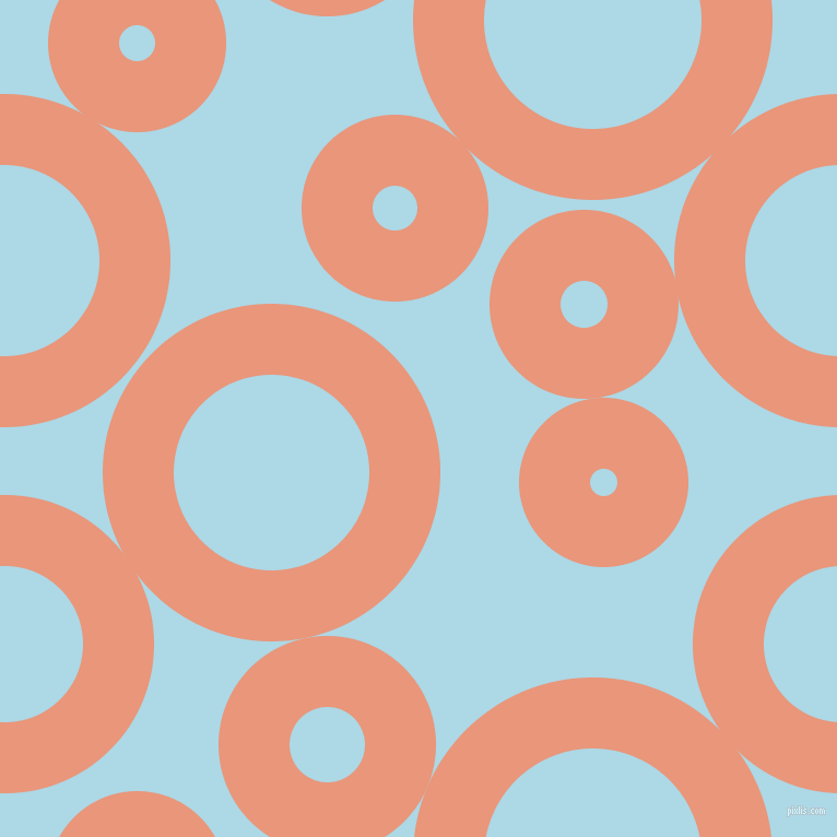 bubbles, circles, sponge, big, medium, small, 65 pixel line widthDark Salmon and Light Blue circles bubbles sponge soap seamless tileable