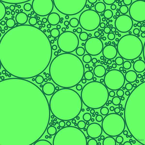 bubbles, circles, sponge, big, medium, small, 5 pixel line width, Dark Spring Green and Screamin