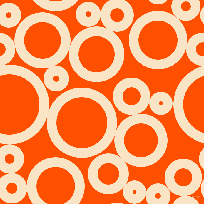 bubbles, circles, sponge, big, medium, small, 33 pixel line width, Derby and International Orange circles bubbles sponge soap seamless tileable