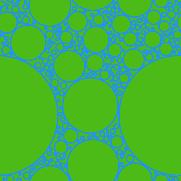 bubbles, circles, sponge, big, medium, small, 5 pixel line width, Dodger Blue and Kelly Green circles bubbles sponge soap seamless tileable