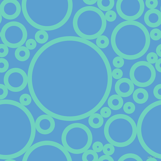 bubbles, circles, sponge, big, medium, small, 17 pixel line width, Downy and Picton Blue circles bubbles sponge soap seamless tileable