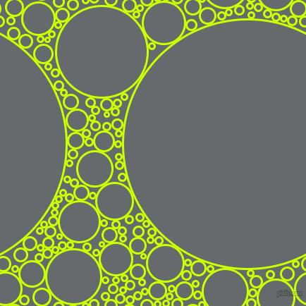 bubbles, circles, sponge, big, medium, small, 3 pixel line width, Electric Lime and Mid Grey circles bubbles sponge soap seamless tileable