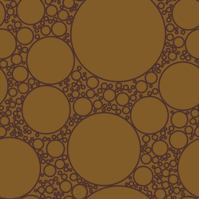 bubbles, circles, sponge, big, medium, small, 5 pixel line width, Espresso and Hot Curry circles bubbles sponge soap seamless tileable