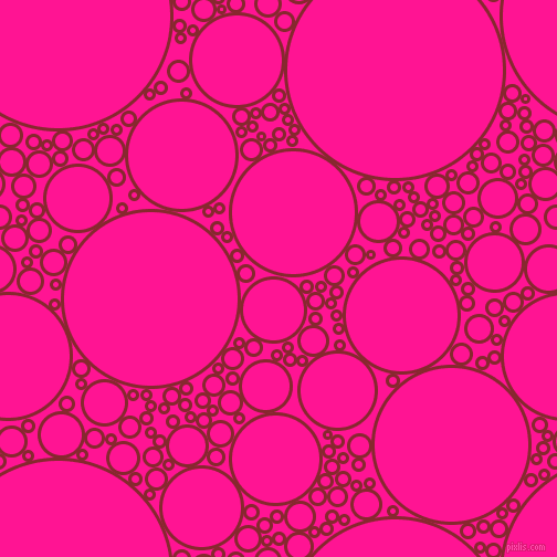 bubbles, circles, sponge, big, medium, small, 3 pixel line width, Flame Red and Deep Pink circles bubbles sponge soap seamless tileable