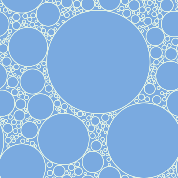 bubbles, circles, sponge, big, medium, small, 3 pixel line width, Frosted Mint and Jordy Blue circles bubbles sponge soap seamless tileable