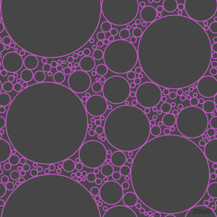 bubbles, circles, sponge, big, medium, small, 2 pixel line width, Fuchsia and Charcoal circles bubbles sponge soap seamless tileable