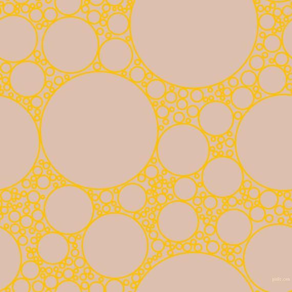 bubbles, circles, sponge, big, medium, small, 3 pixel line width, Golden Poppy and Just Right circles bubbles sponge soap seamless tileable