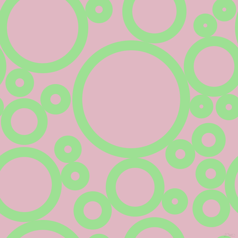 bubbles, circles, sponge, big, medium, small, 33 pixel line width, Granny Smith Apple and Melanie circles bubbles sponge soap seamless tileable
