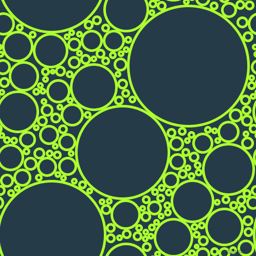 bubbles, circles, sponge, big, medium, small, 5 pixel line width, Green Yellow and Tarawera circles bubbles sponge soap seamless tileable