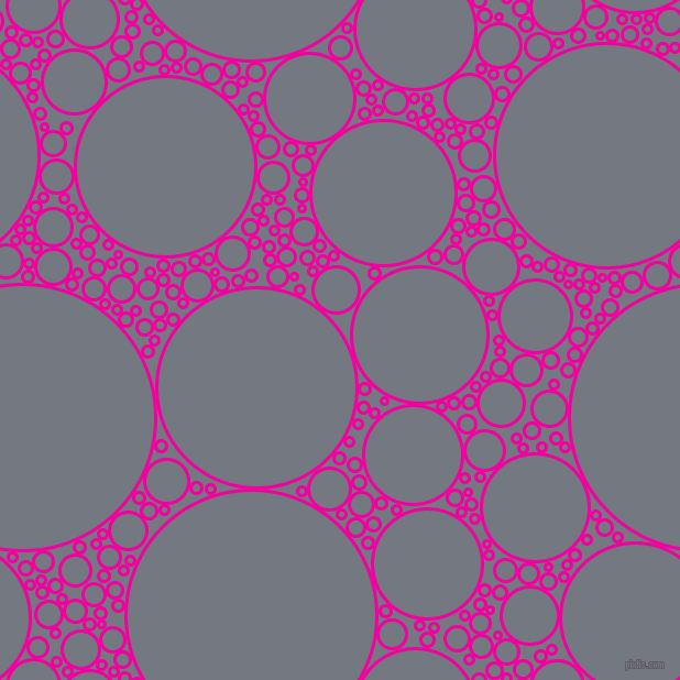 bubbles, circles, sponge, big, medium, small, 3 pixel line width, Hollywood Cerise and Storm Grey circles bubbles sponge soap seamless tileable