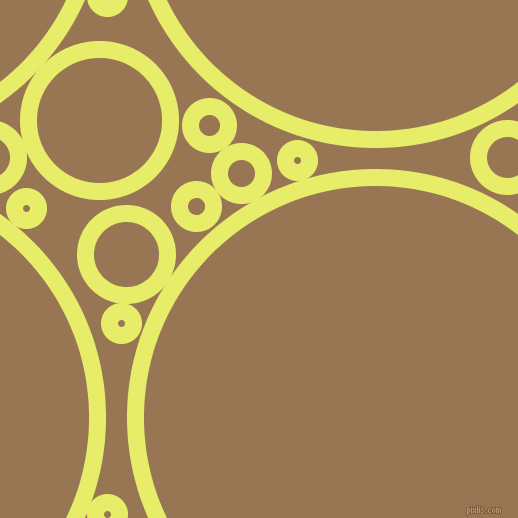 bubbles, circles, sponge, big, medium, small, 17 pixel line width, Honeysuckle and Pale Brown circles bubbles sponge soap seamless tileable