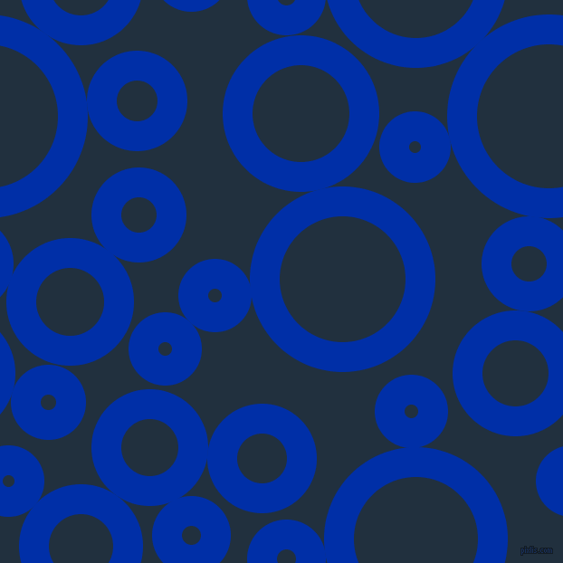 bubbles, circles, sponge, big, medium, small, 33 pixel line width, International Klein Blue and Midnight circles bubbles sponge soap seamless tileable