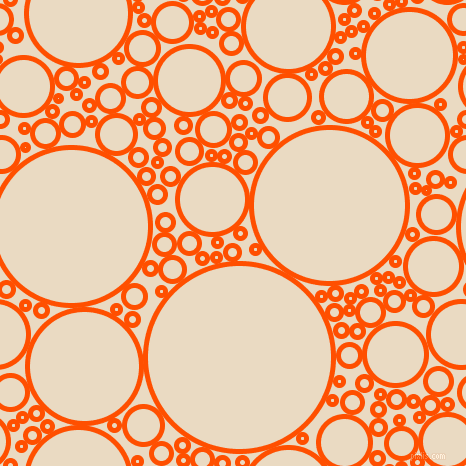 bubbles, circles, sponge, big, medium, small, 5 pixel line width, International Orange and Solitaire circles bubbles sponge soap seamless tileable