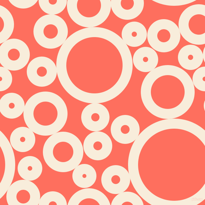 bubbles, circles, sponge, big, medium, small, 33 pixel line width, Island Spice and Bittersweet circles bubbles sponge soap seamless tileable