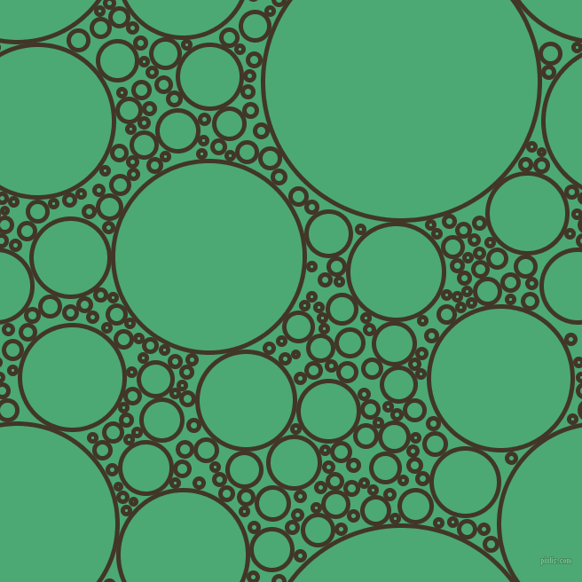 bubbles, circles, sponge, big, medium, small, 5 pixel line width, Jacko Bean and Ocean Green circles bubbles sponge soap seamless tileable