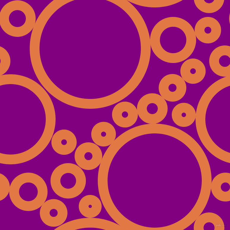 bubbles, circles, sponge, big, medium, small, 33 pixel line width, Jaffa and Purple circles bubbles sponge soap seamless tileable