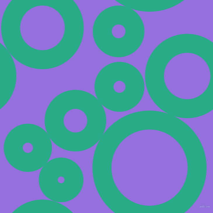 bubbles, circles, sponge, big, medium, small, 65 pixel line width, Jungle Green and Medium Purple circles bubbles sponge soap seamless tileable