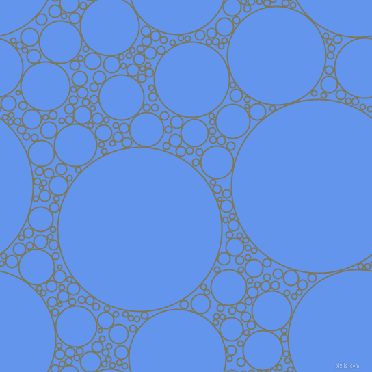 bubbles, circles, sponge, big, medium, small, 2 pixel line width, Kokoda and Cornflower Blue circles bubbles sponge soap seamless tileable