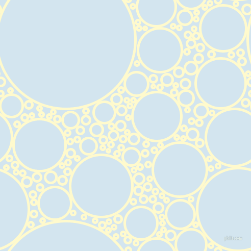 bubbles, circles, sponge, big, medium, small, 5 pixel line width, Lemon Chiffon and Pattens Blue circles bubbles sponge soap seamless tileable