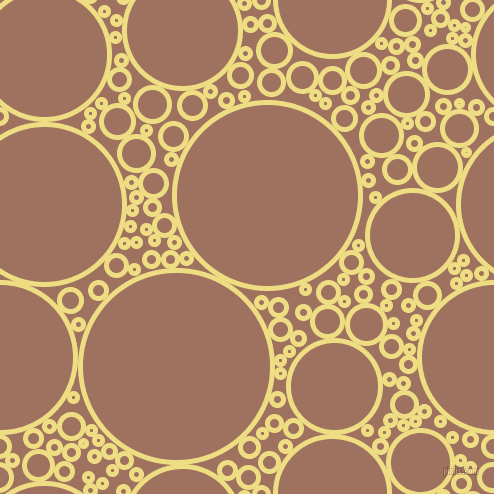 bubbles, circles, sponge, big, medium, small, 5 pixel line width, Light Goldenrod and Toast circles bubbles sponge soap seamless tileable