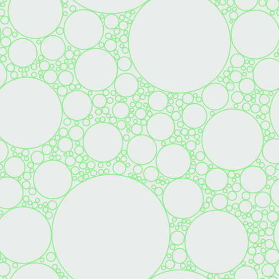 bubbles, circles, sponge, big, medium, small, 2 pixel line width, Light Green and Lily White circles bubbles sponge soap seamless tileable