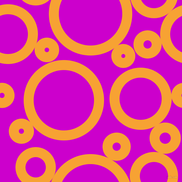 bubbles, circles, sponge, big, medium, small, 33 pixel line width, Lightning Yellow and Deep Magenta circles bubbles sponge soap seamless tileable