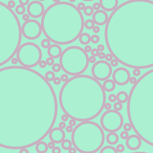 bubbles, circles, sponge, big, medium, small, 9 pixel line width, Maverick and Magic Mint circles bubbles sponge soap seamless tileable