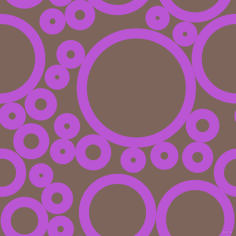 bubbles, circles, sponge, big, medium, small, 33 pixel line width, Medium Orchid and Russett circles bubbles sponge soap seamless tileable