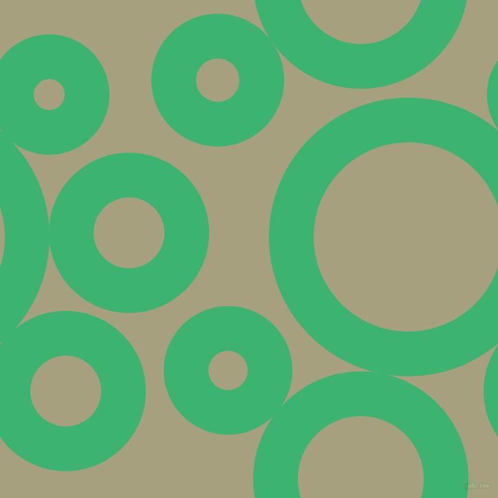 bubbles, circles, sponge, big, medium, small, 65 pixel line width, Medium Sea Green and Hillary circles bubbles sponge soap seamless tileable