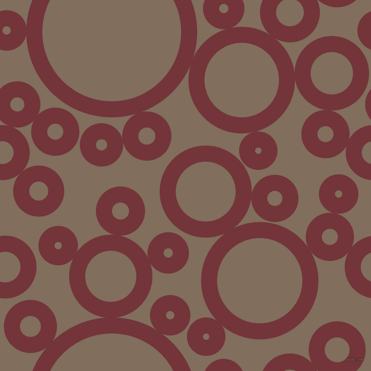 bubbles, circles, sponge, big, medium, small, 33 pixel line width, Merlot and Donkey Brown circles bubbles sponge soap seamless tileable