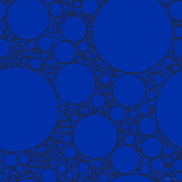 bubbles, circles, sponge, big, medium, small, 3 pixel line width, Midnight Express and International Klein Blue circles bubbles sponge soap seamless tileable