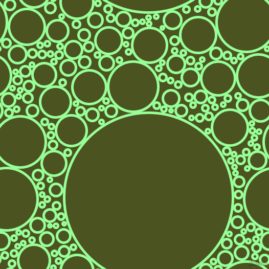 bubbles, circles, sponge, big, medium, small, 5 pixel line width, Mint Green and Army green circles bubbles sponge soap seamless tileable