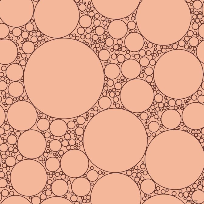 bubbles, circles, sponge, big, medium, small, 2 pixel line width, Moccaccino and Mandys Pink circles bubbles sponge soap seamless tileable