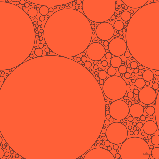 bubbles, circles, sponge, big, medium, small, 2 pixel line width, Mocha and Outrageous Orange circles bubbles sponge soap seamless tileable
