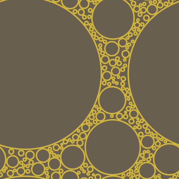 bubbles, circles, sponge, big, medium, small, 5 pixel line width, Old Gold and Makara circles bubbles sponge soap seamless tileable