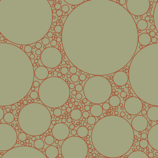 bubbles, circles, sponge, big, medium, small, 2 pixel line width, Orange Roughy and Locust circles bubbles sponge soap seamless tileable