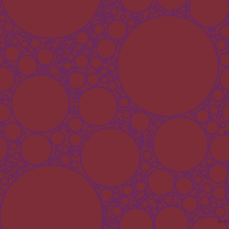 bubbles, circles, sponge, big, medium, small, 5 pixel line width, Palatinate Purple and Paprika circles bubbles sponge soap seamless tileable