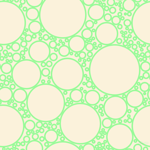 bubbles, circles, sponge, big, medium, small, 5 pixel line width, Pale Green and Early Dawn circles bubbles sponge soap seamless tileable