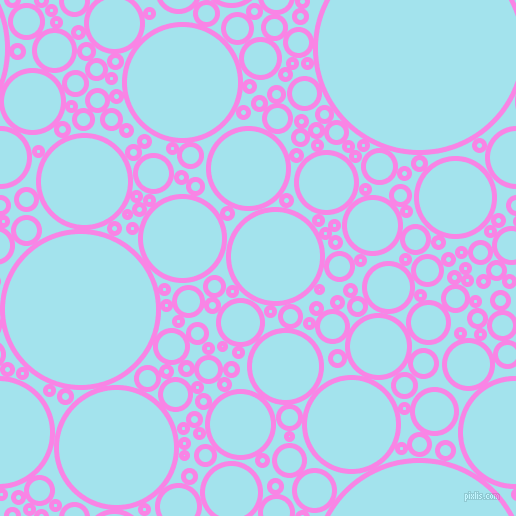 bubbles, circles, sponge, big, medium, small, 5 pixel line width, Pale Magenta and Blizzard Blue circles bubbles sponge soap seamless tileable