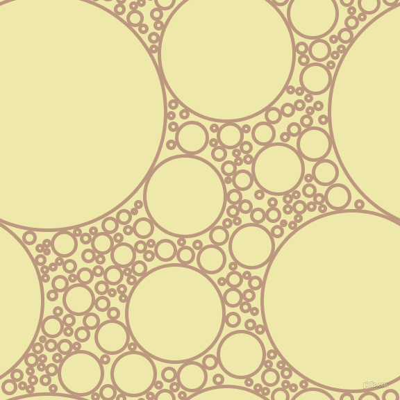 bubbles, circles, sponge, big, medium, small, 5 pixel line width, Pale Taupe and Pale Goldenrod circles bubbles sponge soap seamless tileable
