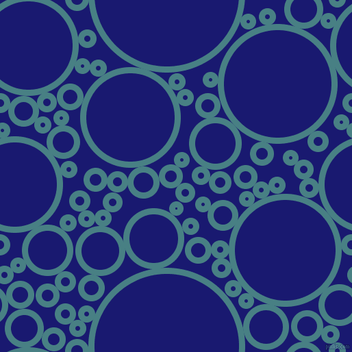 bubbles, circles, sponge, big, medium, small, 9 pixel line width, Paradiso and Midnight Blue circles bubbles sponge soap seamless tileable