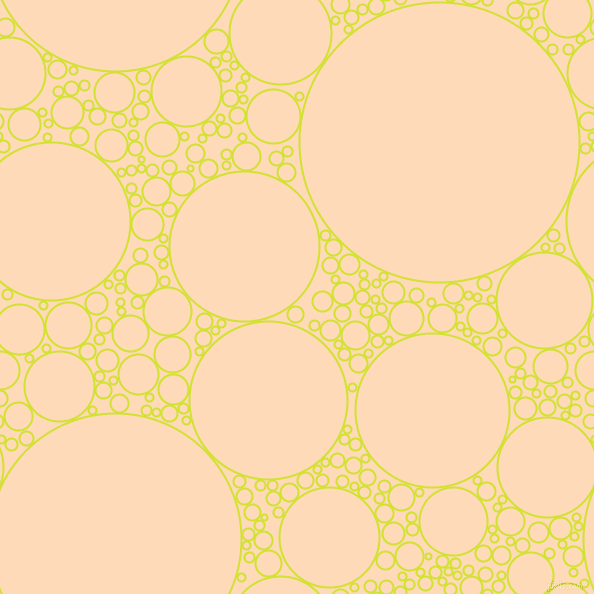 bubbles, circles, sponge, big, medium, small, 2 pixel line width, Pear and Peach Puff circles bubbles sponge soap seamless tileable